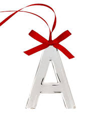 silver initial ornament only at macy s products