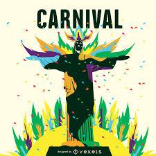 halloween carnival background rio carnival poster maker editable design