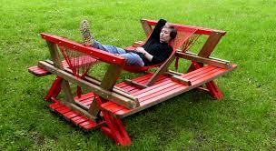 build a picnic table diy picnic table hammock