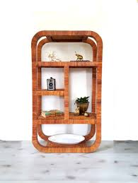 Fez Bookcase Room Wicker Bookshelf Vintage Etagere Boho Decor By Motherhawkvintage