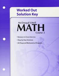 amazon com math course 2 worked out solution key 9780618741151