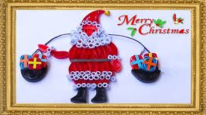 quilling artwork hand made easy quilling santa christmas card
