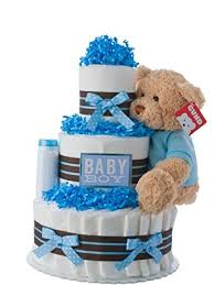 baby boy centerpieces cake boy theme handmade by lil baby
