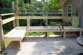 Decks With Benches Built In Outdoor Bench For Our Deck Diy Wood Working Project Tutorial