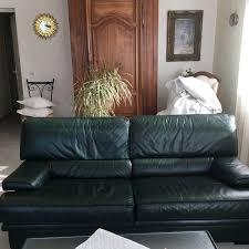 canapé cuir de buffle 3 places canape cuir buffle 3 places et 2 fauteuils vert bouteille en