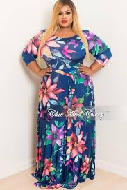 floral dresses new plus size floral dress with 3 4 sleeve and tie in navy