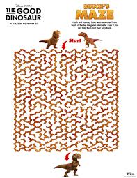good dinosaur printable butch u0027s maze printable coloring