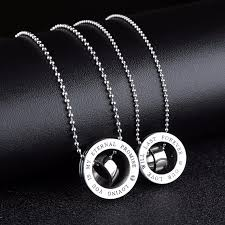 metal ring necklace images His and her promise ring stainless steel charm necklace set for jpg