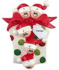 buy glitter gift family of 5 family ornament personalized