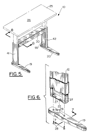 Height Adjustable Desks Uk by Patent Us6510803 Height Adjustable Table Google Patents