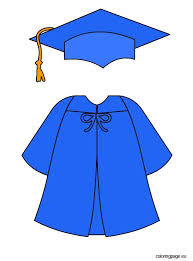 blue cap and gown blue graduation cap and gown decor cap gowns and