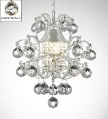 Country French Chandelier by J10 B6 White 592 1 Wrought With Crystal Wrought Iron Crystal Orb