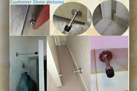 Glass Shower Door Stop Hotel Bathroom Metal Gate Sliding Toilet Cubicle Partition Door