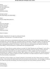 ideas collection biology cover letter examples for your example