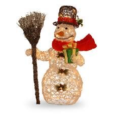Costco Lighted Snowman by The Ultimate Christmas Decoration Checklist