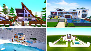 5 great modern houses in minecraft youtube