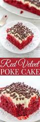 red velvet poke cake with cream cheese frosting averie cooks