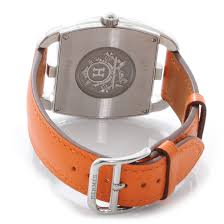 hermes swift leather cape cod pm watch orange hermes watches