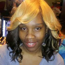 no part weave hairstyles invisible part full head sew in weave no hair left out yelp