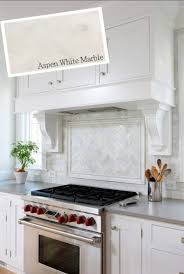 Modern Backsplash Kitchen by Interior Shop The Look Backsplash Ideas Using Aspen White Marble