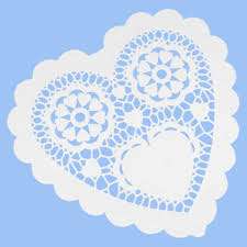 heart doily large white heart doilies pipii