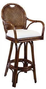 legacy bar stools indoor swivel rattan wicker 30 bar stool in tc antique finish