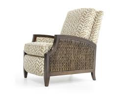 sam moore zephyr coastal high leg recliner with wicker panels