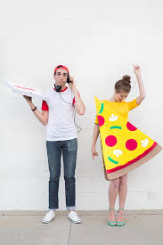 Halloween Costume Food Diy Pizza Slice Delivery Boy Couples Costume Costumes Food