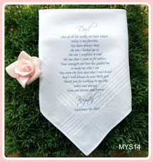 customized wedding gift of the groom wedding handkerchief printed customized