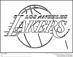 nba lakers coloring pages lakers logo coloring page coloring home la lakers coloring pages