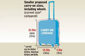 american airlines luggage size airlines suggest shrinking maximum size of hand luggage you can