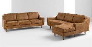 dallas canapé 3 places en cuir de qualité supérieure marron clair