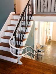 Laminate Floor For Stairs Curved Rail Stair Lifts Stairlift For Curved Stairs Centerspan