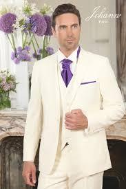 lavalli re mariage johann costume de mariage ivoire accessoires violet