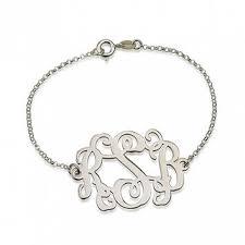 monogram bracelet silver best silver monogram bracelet products on wanelo