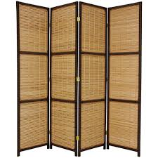Home Dividers by Home Decorators Collection 5 85 Ft Pu Dark Brown 3 Panel Room