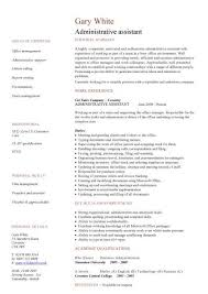 resume for administrative assistant admin resumes pertamini co