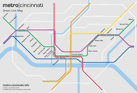 Metro Line Map by Metro Cincinnati Green Line