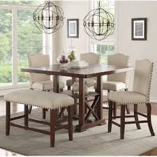 Counter Height Dining Sets Youll Love Wayfair - Dining room table sets counter height
