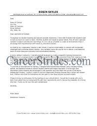 teaching job cover letter sample choice image letter samples format