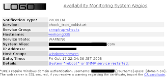 monitoring windows reboots through snmp traps with nagios