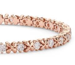 rose gold bracelet diamonds images 2 5 ct tw cubic zirconia rose petal chain bracelet in sterling jpg