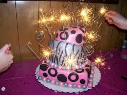 sparkler candles for cakes not just cakes the sweet 16 bash
