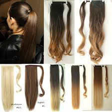 Very Cheap Clip In Hair Extensions by Wrap Around Ponytail Hair Extensions Ebay