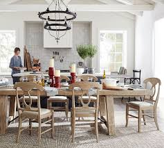 Pottery Barn Dining Room Lighting by Benchwright Extending Dining Table Seadrift Pottery Barn