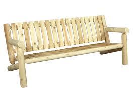 canapé en bois canapé de jardin en bois de cèdre blanc cèdre rondins
