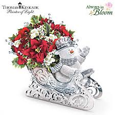 kinkade delivering cheer sleigh table