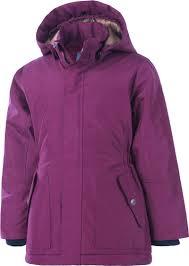 color kids jacket parka rhina beet red 103400 0436 at papiton