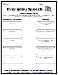figurative figurative language matching everyday speech everyday speech