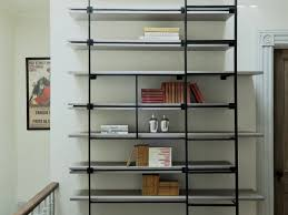 Bookcase Lamps Inspirations Wood And Metal Bookshelf Restoration Hardware